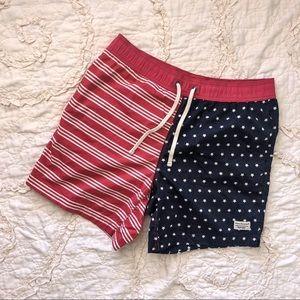 Modern Amusement American Flag Swim Trunks